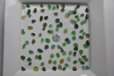 English Sea Glass from Cornwall  ...... 100 small GREEN coloured pieces