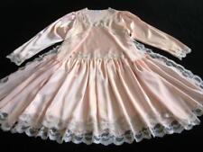 Vintage Lacy Pink Bias Satin Chemise + Robe Peignoir Set S/XS Pink NEW Papillon