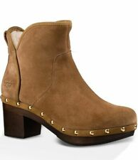 NOT Seconds - UGGS W CAM II Suede Chestnut Sherling Lined Platform Boots