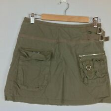 Union Bay Mini Cargo Skirt Womens Small Army Green