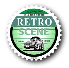 Novelty Retro Tax Disc Motif & Koolart Ford Capri Ghia 2.8i image car sticker
