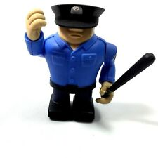 Collectible Hard Plastic Policeman Toy Figurine Moveable Arms Legs