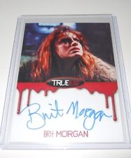 True Blood Autograph Trading Card Brit Morgan as Debbie Pelt