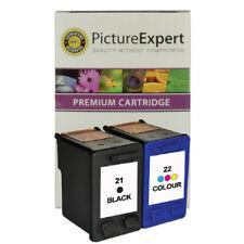 More details for text quality black & colour ink cartridges for hp deskjet f394 f2110 f4180 f310