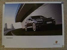 2008 Porsche Cayenne Tubro S Advertising Showroom Sales Poster RARE Awesome L@@K