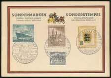 Berlin Nr. 106 u.a. auf Sonderkarte m. SST STUTTGART SOLITUDERENNEN 1955 (68404)