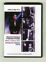 Milton H. Erickson & Jeffrey Zeig: working with resistance DVD (1979)