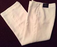 Worthington Modern Fit Womens Dress Pant Straight Leg White Size 10 Short  NWT