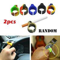 2pc Creativa Dito Protezione Silicone Sigaretta Porta Anello Fumare Accessori