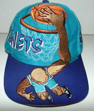 VTG Drew Pearson Charlotte Hornets Dunk Snapback Hat Teal/Purple NBA 90s RARE **