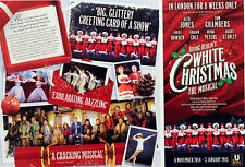 WHITE CHRISTMAS THE MUSICAL DOMINION THEATRE FLYERS X 2 TOM CHAMBERS ALED JONES