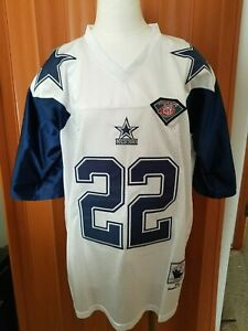 Mitchell & Ness Throwbacks 54 NFL 75th Emmitt Smith 1992 Cowboys Jersey