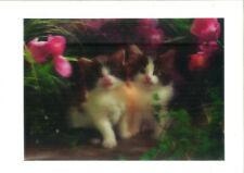 cat hidden in flowers 3D Lenticular Holographic Stereoscopic Picture Wall Art