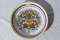 Nova Deruta Italian Pottery Hand Painted Pasta Serving Bowl Made in Italy 11.25""
