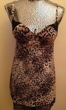 NWT Victoria's Secret Slip Cupped Leopard Print with Lace Padded 36 C