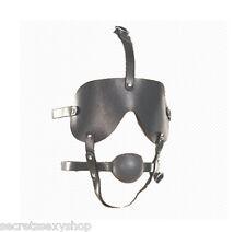 Morso con maschera bondage nera gagball mask fetish design sexy shop