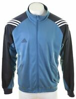 ADIDAS Mens Tracksuit Top Jacket Large Blue Polyester  LZ02