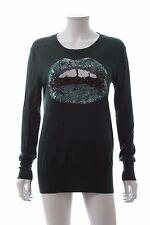 Markus Lupfer Lara Lip Sequin-Embellished Wool Sweater / Green / RRP: £320.00
