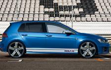 VW GOLF R door STICKERS Side declas Pin stripes Stickers GTI Polo Scirocco