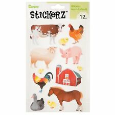 Barn Animals Decals 12 Stickers Farm Horse Cow Chicken Duck Sheep FAST SHIPPING