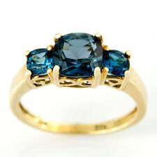 Handmade Topaz Yellow Gold Fine Rings