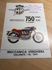 MV Agusta 750 Sport Prospekt Broschüre Brochure Depliant
