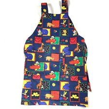 Daycare Teacher Cook Apron Baby Disney Oiled Cloth Fully Lined 2 Pockets VTG