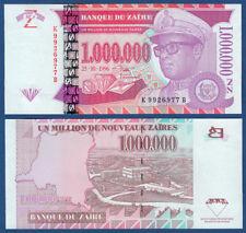 ZAIRE 1.000.000 Nouveaux Zaires 1996 UNC  P. 79