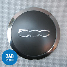 1 x NEW GENUINE FIAT 500 500C CENTRE CAPS HUB BADGES GREY CHROME BLACK 51884863
