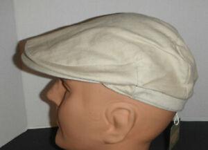 Stetson driving Cabbie Hat 100% cotton twill Cap hat New medium KHAKI