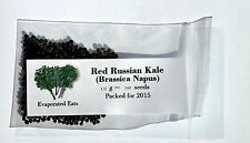 140 Red Russian Kale Seeds All Natural Non GMO Freshly Packed For 2017