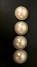 Vintage Button Covers Faux Pearl~Set of 4