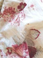"""Waverly Norfolk Vintage Rose Garden Room King Fitted Sheet Cottage 12"""" Pocket"""