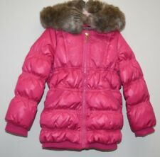 $252 New JUICY COUTURE Girls Long Jacket Coat Pink Embroidered PARKA Puffer 2 4