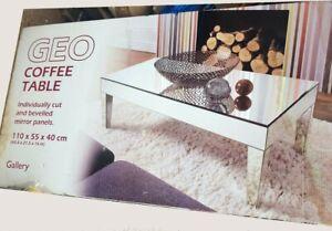 Mirrored Coffee Table Modern Mirror Furniture