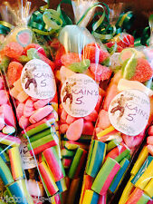 "Large 12"" Pre-filled Sweet Cones Birthday Party Bag Wedding Baby Shower Favors"
