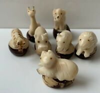 Carved Tagua Safari Animals - Handmade Natural and Ethically Sourced frm Ecuador
