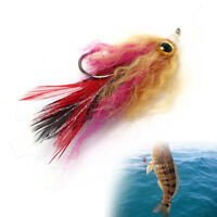 5cm hook/tube trout salmon steelhead pike fly fishing streamer flies saltwaterVP