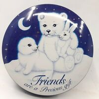 Blue & White Friends Are A Precious Gift Collectible Tin Featuring White Bears