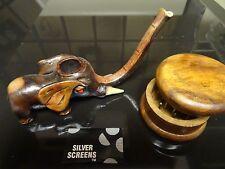 Small Elephant Ceramic Tobacco Smoking Pipe. + Grinder  <  no glass  PM 1542 + G