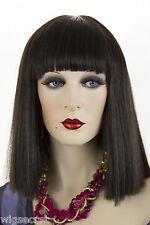 Darkest Brown Brunette Long Medium Straight Wigs