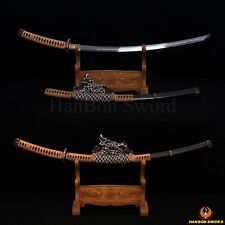 TOP QUAITY HAND FORGED JAPANESE SAMURAI TACHI BATTLE READY SWORD HAZUYA POLISH