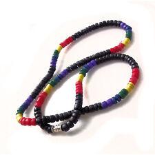 Gay Pride Surfers Necklace Coco Bead Choker in Black 4 MM