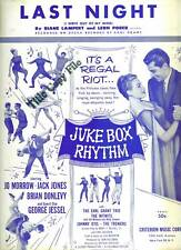 Film Sheet Music LAST NIGHT Juke Box RHYTHM Criterion Publ. Jack JONES 1959