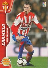 N°302 CARMELO # SPORTING GIJON CARD PANINI MEGA CRACKS LIGA 2011