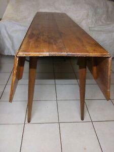 Mid-Century Fruitwood Drop Leaf Table 00907NZ