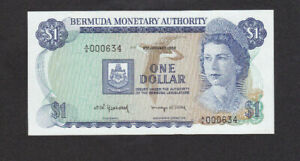 1 DOLLAR UNC BANKNOTE FROM BERMUDA MONETARY AUTHORITY 1982 PICK-28b