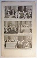 Bernard PICART (1673-1733) Kupferstich-Blatt um 1720 mit 6 Abb.: Vatikan (07
