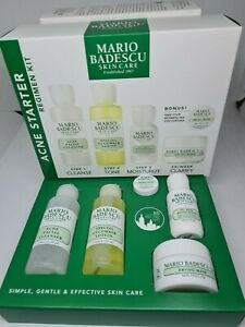 Authentic Mario Badescu Skincare Acne Starter Kit Cleanser, Mask, Lotion BNIB