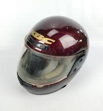 KBC TK-V Full Face Helmet Dark Red With Clear Lid Size Medium
